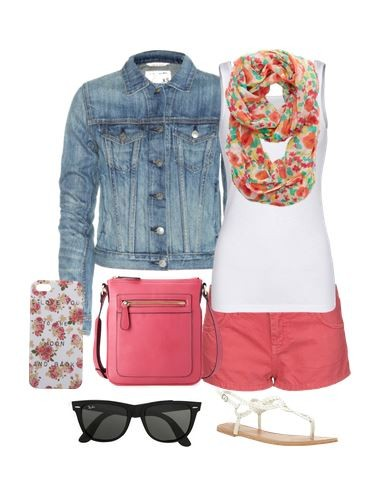 Cute Outfit Ideas with a jean jacket 01