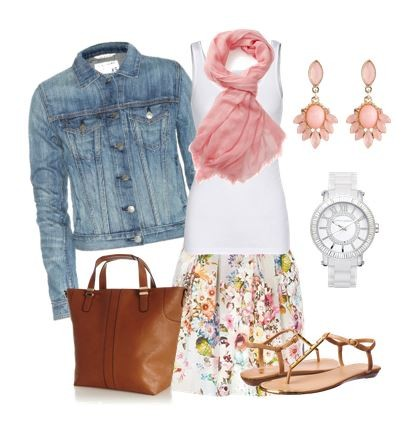 Cute Outfit Ideas with a jean jacket 03