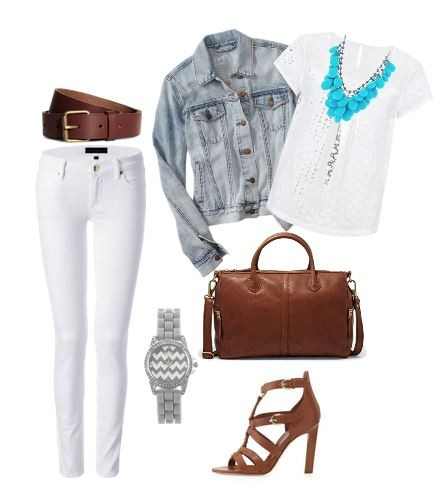 Cute Outfit Ideas with a jean jacket 04