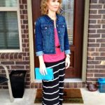 Outfit of the Day #2 – Denim Jacket, Maxi Skirt, Tank and a Clutch