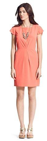 Solid Tulip Sleeve Dress