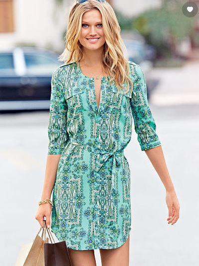 Victoria's Secret Belted Shirt Dress