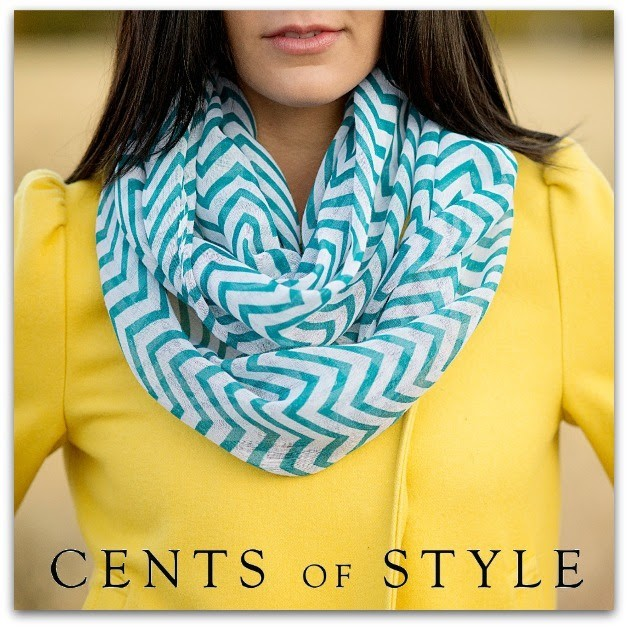 Chevron Infinity Scarves Blue Cents of Style Flash sale