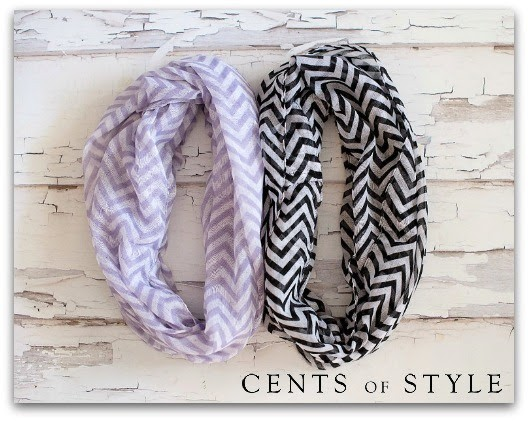 Chevron Infinity Scarves Cents of Style Flash Sale