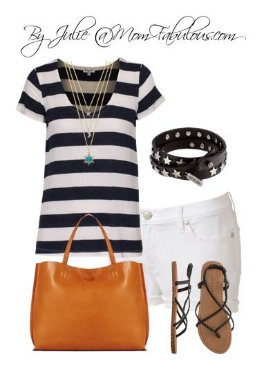 Cute Outfit Ideas with white shorts 02