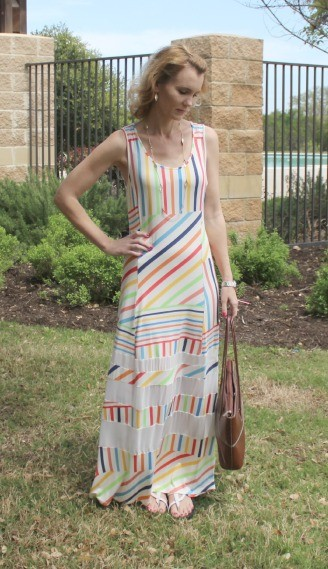 Peter Som for Kohl's Striped Maxi 01