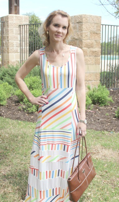 Peter Som for Kohl's Striped Maxi 03