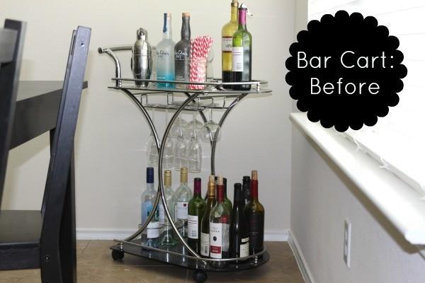 Bar cart, bar cart styling, bar cart essentials
