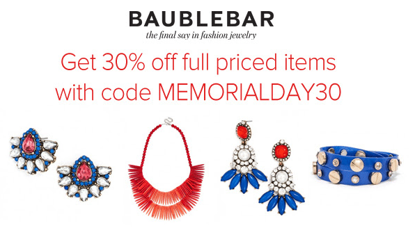 Bauble Bar Memorial Day Sale