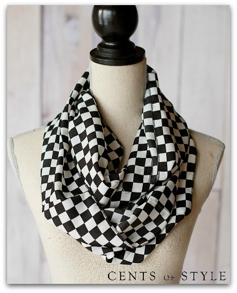 Black and White Infinity Scarves, Scarves, Gift Ideas