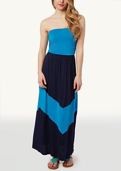 Mitred Tube Maxi Dress