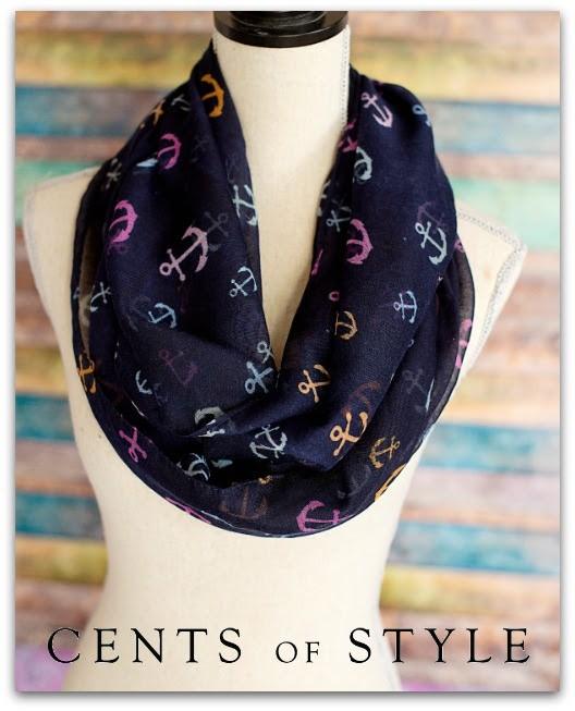 nautical accessories, anchor scarf