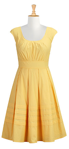 Yellow Chelsea Dress, Yellow dresses, eshakti, summer dresses, dresses for summer, cute dresses