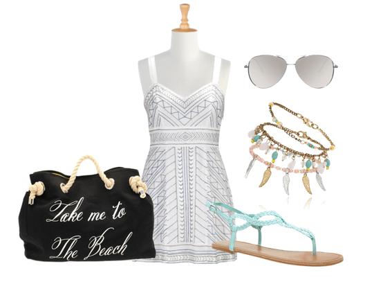 Beach Babe Style Swim Suit Cover Up