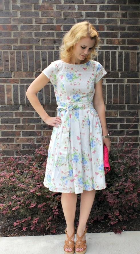 floral dress, feminine floral dress, eshakti dress, custom dress, customizable dresses, order dress online, dresses for weddings