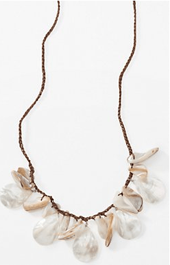 luminous pearl & shell necklace