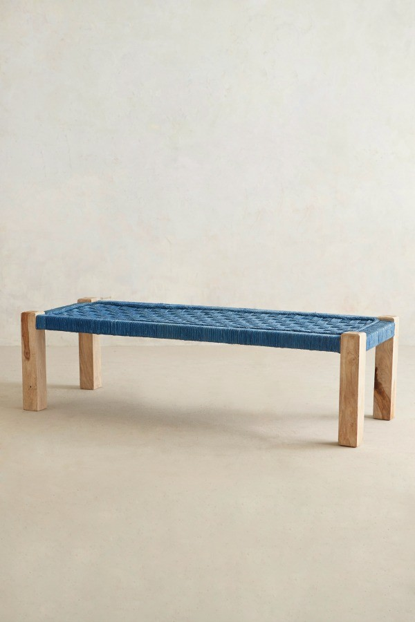 Lost + Found Woven Bench