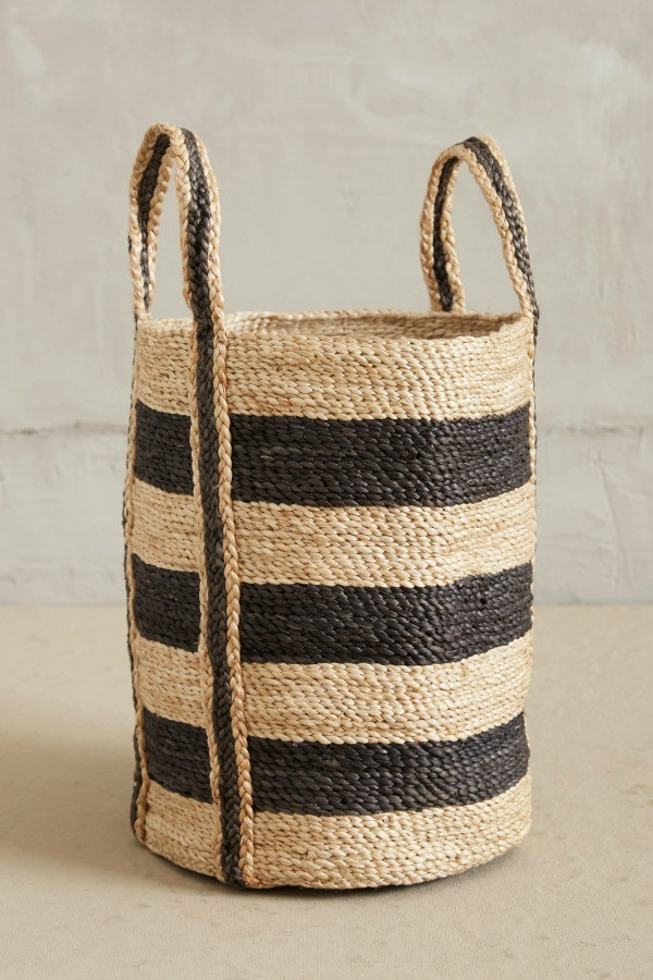 Lost + Found Anthropologie Striped Basket