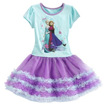 Disney Frozen Anna & Elsa Tutu Dress, frozen tutu, frozen apparel, frozen clothes, frozen dress