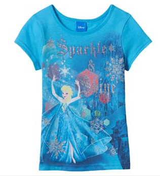 "Disney Frozen Elsa ""Sparkle & Shine"" Tee, disney frozen t-shirt, disney frozen apparel"