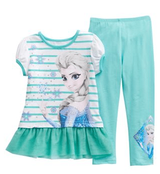 Disney Frozen Elsa Striped Tunic & Leggings Set