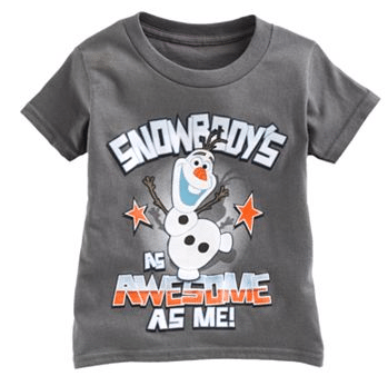 "Disney Frozen Olaf ""Snowbody's As Awesome As Me"" Tee"