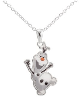 Disney Frozen Silver-Plated Olaf Pendant Necklace