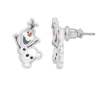 Disney Frozen Silver-Plated Olaf Stud Earrings