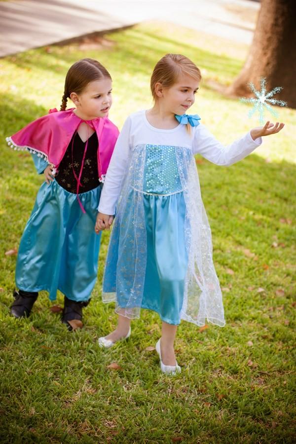 frozen princess dress, frozen dress, frozen inspired princess dress, elsa dress, anna dress