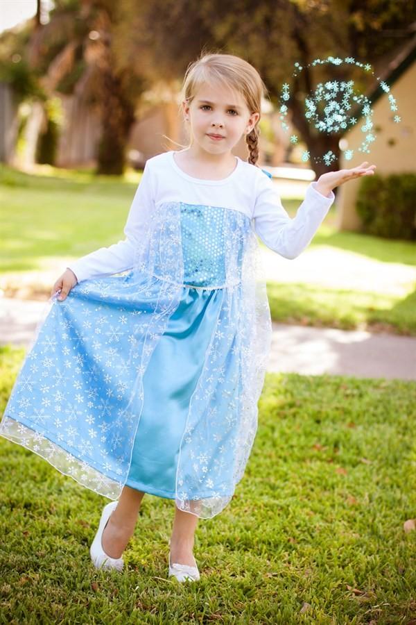 frozen dress, frozen princess dress, elsa dress