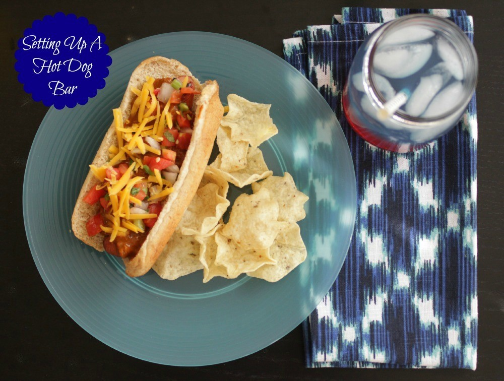 hot dog bar, national hot dog month, how to set up a hot dog bar,  national hot dog day