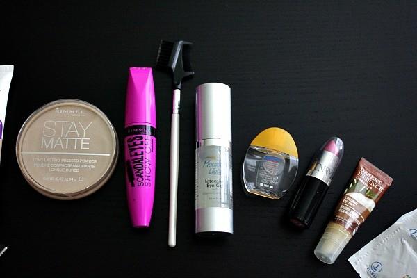 makeup bag essentials, mascara, best eye cream, rohto relief cooling eye drops
