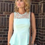 A Peplum Top from Day to Night