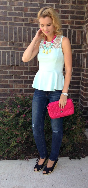 Peplum top, how to wear a peplum top, what to wear with a peplum top, lookbook store