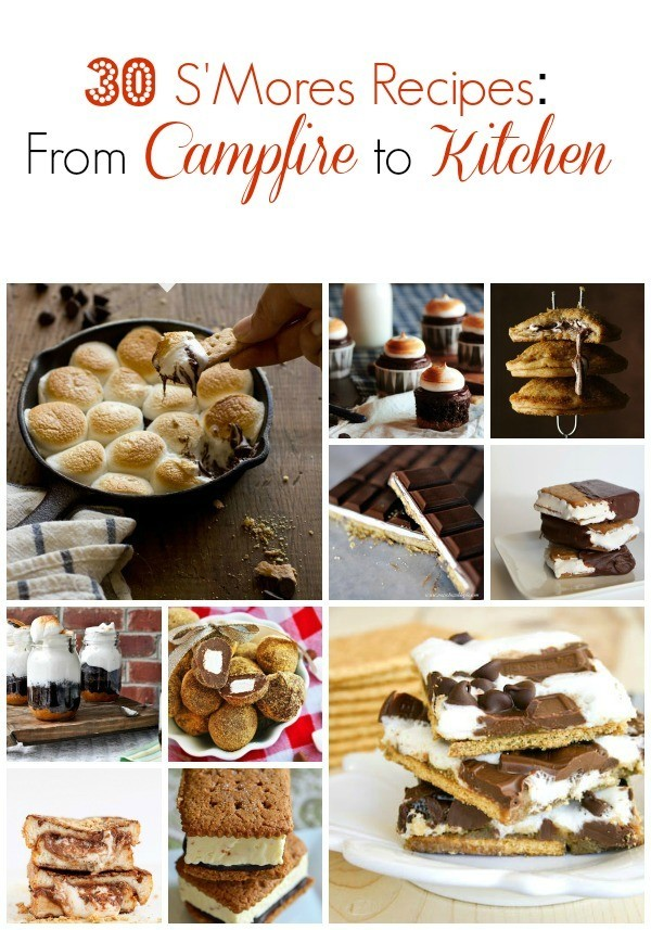 S'Mores Recipes, campfire smores recipes, smores cookies, smores pies,