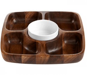 Wood Section Tray