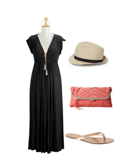 cute outfit ideas, outfit ideas for traveling, black maxi dress, outfit ideas for moms, the perfect black maxi