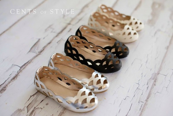 little girls laser cut flats