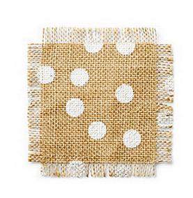 polka dot cloth coasters