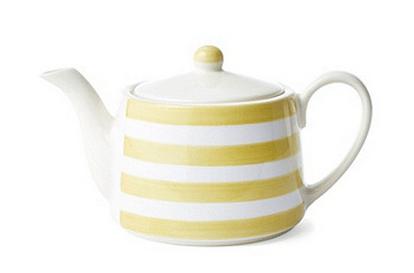 striped lemon teapot