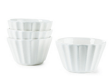 white medallion bowls