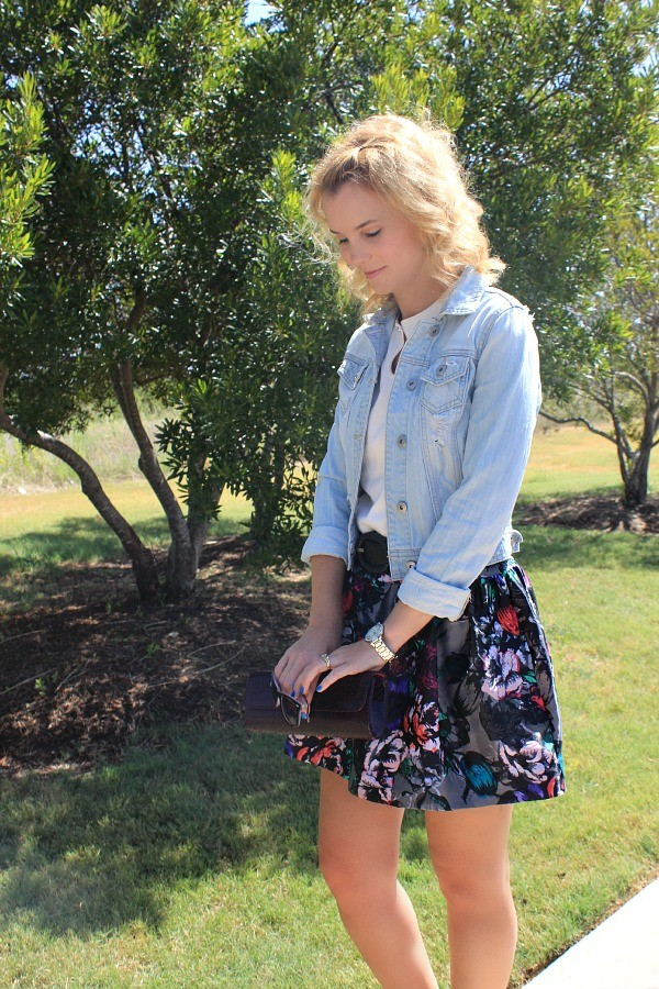 Floral Skirt, Fall Fashion, Fall Florals