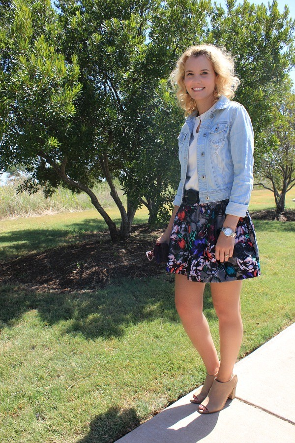 floral skirt, fall fashion 2014, fall outfit ideas, fall trends