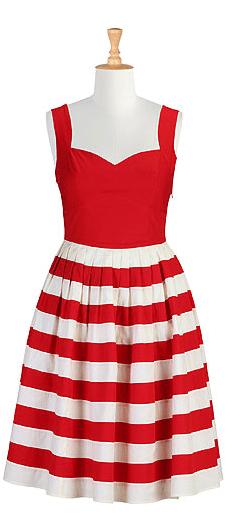 Her fifties colorblock dress