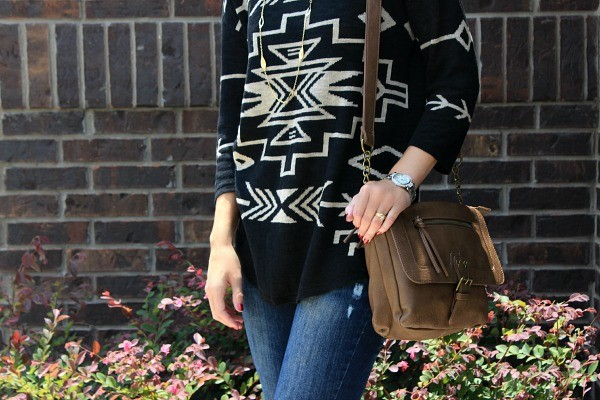 J Jill Tribal Print Sweater, tribal fashion trend, j jill sweater, fall 2014 trends, sweaters, fall outfit ideas