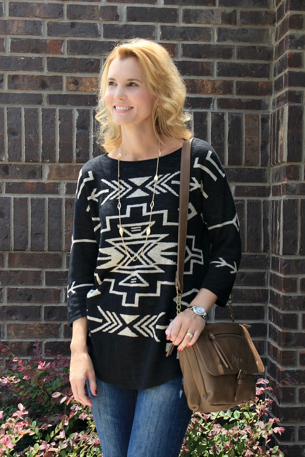 J Jill Tribal Print Sweater, tribal fashion trend, j jill sweater, fall 2014 trends, sweaters
