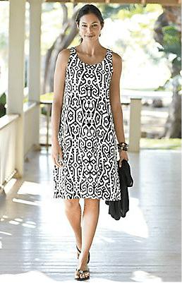 Printed Linen Tank Dress