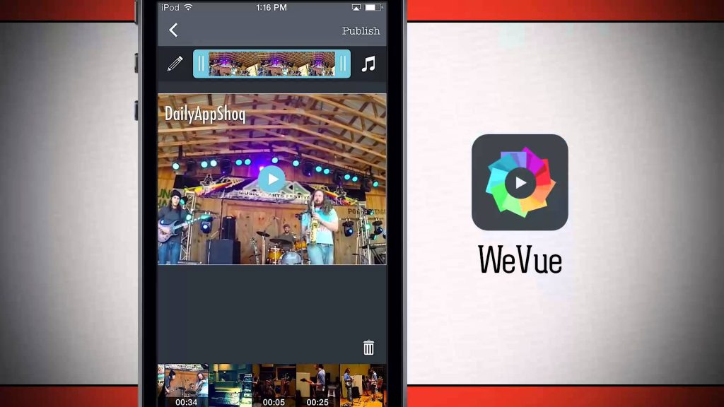 wevue app, create montage videos, new apps
