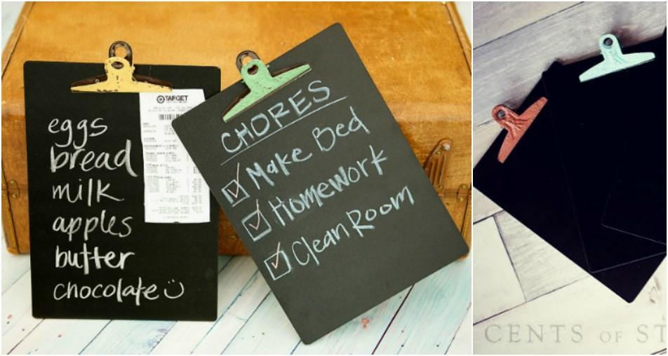 clipboard chalkboard