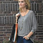 Easing Into Fall with a Hi-Low Crochet Back Sweater & Fall Accessories